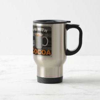 I'm With Cocoa 15 Oz Stainless Steel Travel Mug