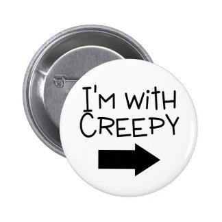 Im With Creepy Arrow 2 Inch Round Button
