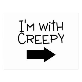Im With Creepy Arrow Postcard