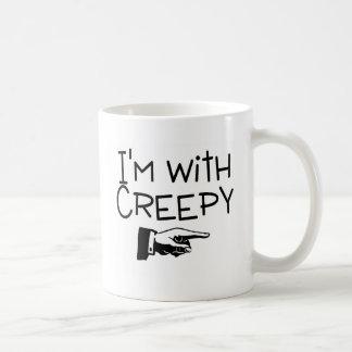 Im With Creepy Classic White Coffee Mug