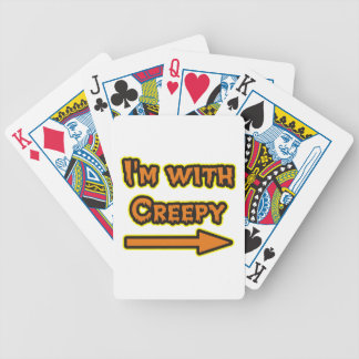 I'M WITH CREEPY CARD DECK