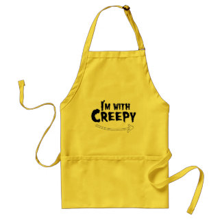 I'M WITH CREEPY.png Adult Apron