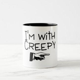 Im With Creepy Two-Tone Coffee Mug