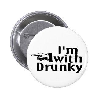 Im With Drunky 2 Inch Round Button