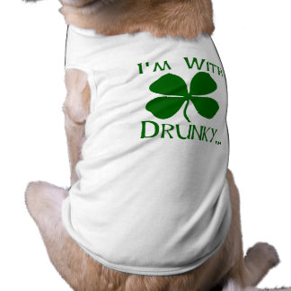 I'm With Drunky Doggie Tee Shirt