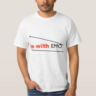 """""""im with EMO"""" t shirt"""