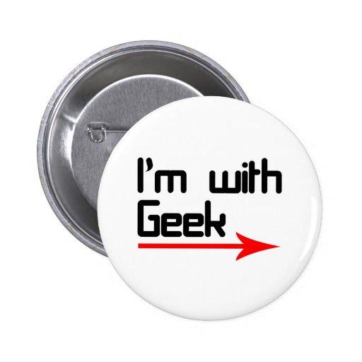 Im with geek 2 inch round button