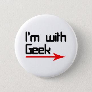Im with geek pinback button