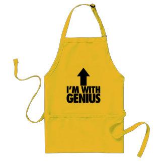 Im With Genius Adult Apron
