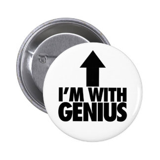Im With Genius Pinback Buttons