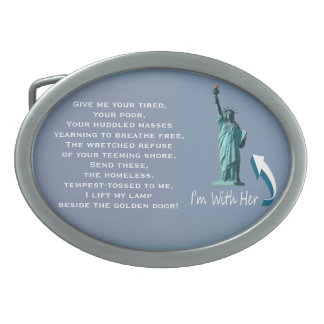 I'm With Her! Belt Buckle