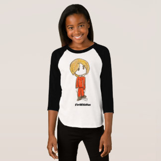 I'm With Her by Ainsley-Girl's Raglan Sleeved T T-Shirt
