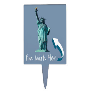 I'm With Her! Cake Topper