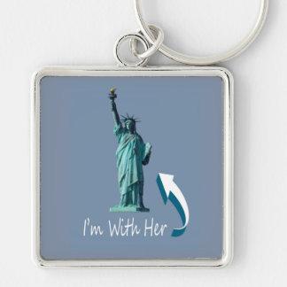 I'm With Her! Keychain