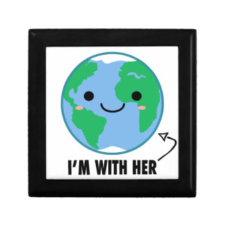 I'm With Her - Planet Earth Day Jewelry Box
