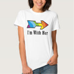 I'm With Her - Rainbow Arrow Left T-Shirt