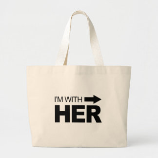I'm with her (right) canvas bags