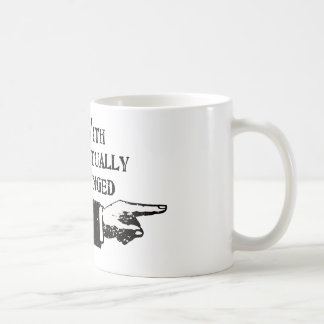I'm With Intellectually Challenged (Distressed) Mugs