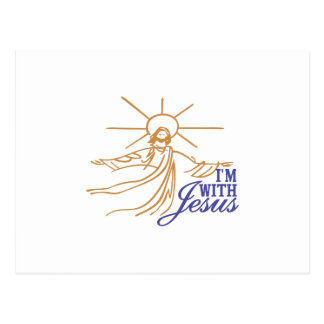 Im With Jesus Postcard