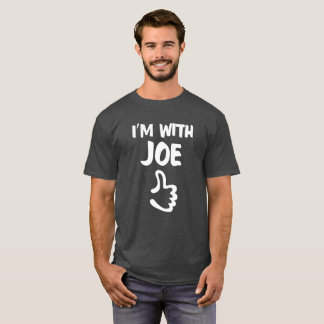 I'm With Joe shirt - Charcoal Heather Gray