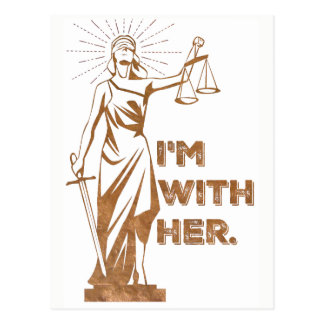 I'm With Justice Protest Postcard