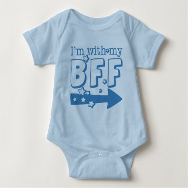 trendyteeshirts I'm With My BFF (right) Baby Bodysuit