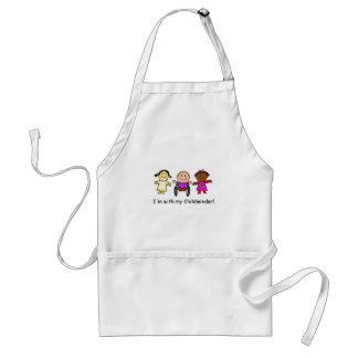 I'm with my childminder adult apron