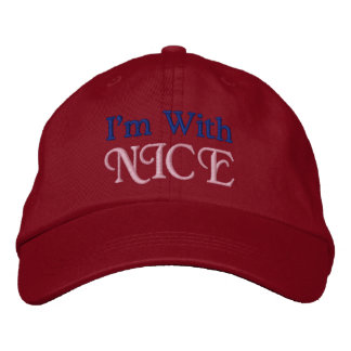 I'm With NICE Embroidered Baseball Hat