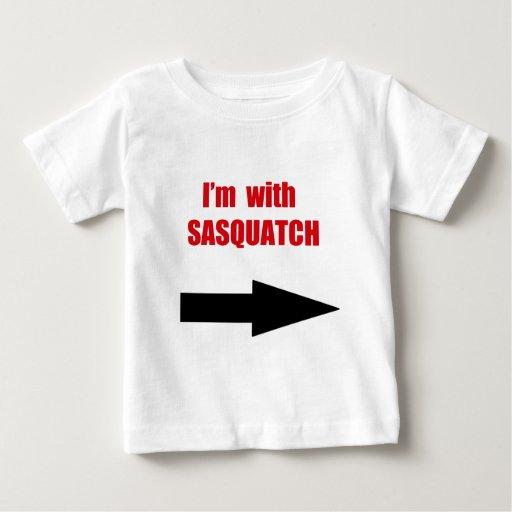 I'm with sasquatch baby T-Shirt