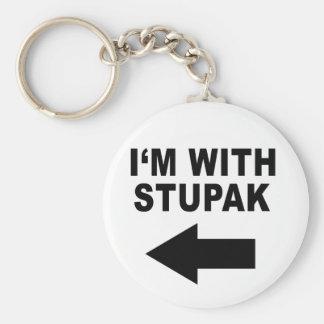 I'm With Stupak Keychain
