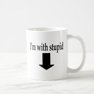 Im With Stupid 5 Classic White Coffee Mug