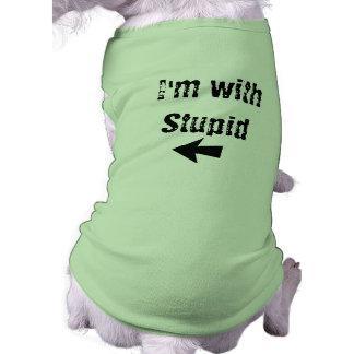 I'm With Stupid - arrow left - Dog Tank Pet Tee