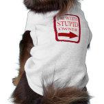 i'm with stupid dog clothing