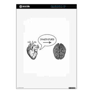 I'm With Stupid (Heart to Brain) Decal For iPad 2