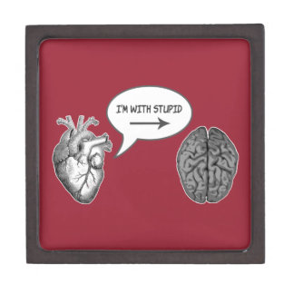 Im With Stupid Heart To Brain Gifts on Zazzle