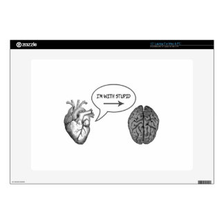 I'm With Stupid (Heart to Brain) Skin For Laptop