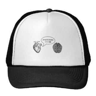 I'm With Stupid (Heart to Brain) Trucker Hat
