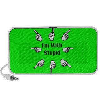 I'm With Stupid iPhone Speaker