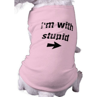 I'm With Stupid - right arrow- Dog Tank T-Shirt