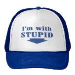 I'm with Stupid Trucker Cap Mesh Hats