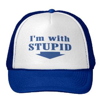 I'm with Stupid Trucker Cap Trucker Hat