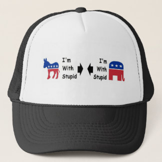 """""""I'm With Stupid"""" Trucker's Hat"""