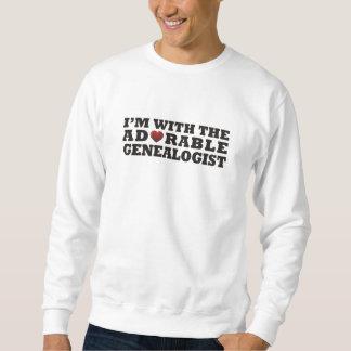 I'm With The Adorable Genealogist Sweatshirt