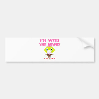 I'm With The Band-Cute Monkey-Morocko Bumper Sticker