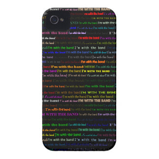 I'm With The Band Text Design I Blackberry Bold Ca iPhone 4 Cover
