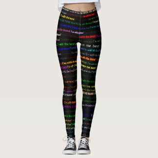 I'm With The Band Text Design I Leggings