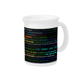 I'm With The Band Text Design I Pitcher