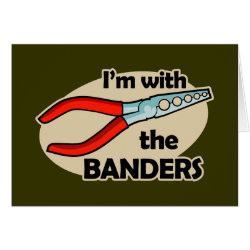 Greeting Card with I'm With The Banders design