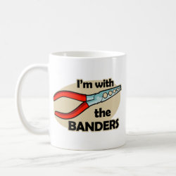 Classic White Mug with I'm With The Banders design