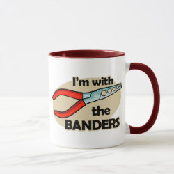 I'm With The Banders Combo Mug